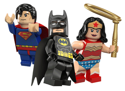 Batman, Wonder Woman and Superman in LEGO Batman 2 DC Superheroes