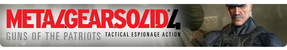 Metal Gear Solid 4 Header Image