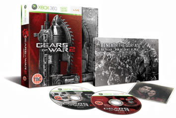 Contents of Gears of War 2 Limited Collectors Edition pack