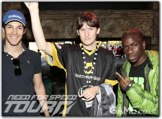 Bruno Senna, winner Steven Embling and Tinchy Stryder