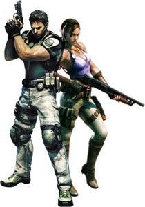 Chris Redfield and Sheva Alomar