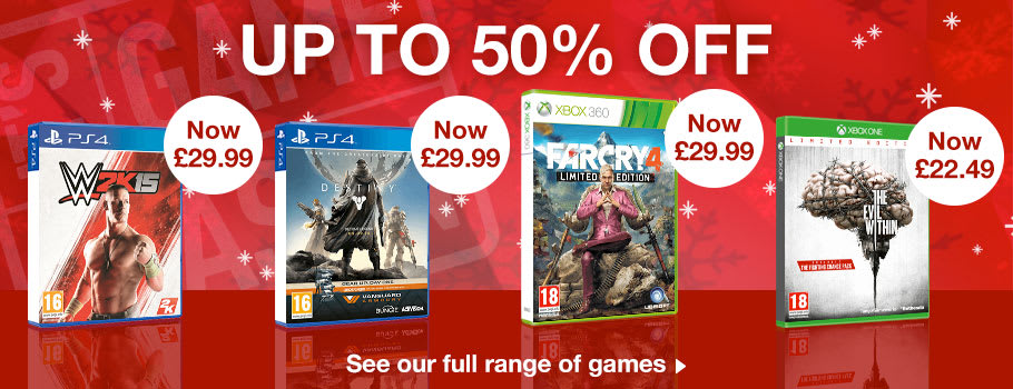 Up to 50% off games - Top Picks