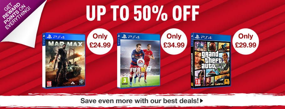 Up to 50% off for PlayStation 4 - Buy Now at GAME.co.uk!
