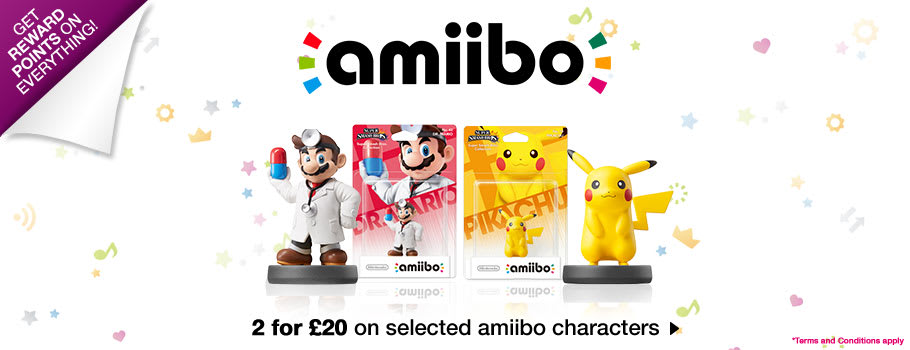 2 for £20 amiibo for Nintendo 3DS - buy Now at GAME.co.uk!