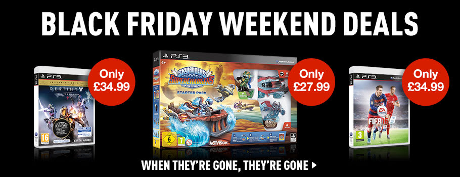 Black Friday Software Deals for PlayStation 3 - Buy Now at GAME.co.uk!