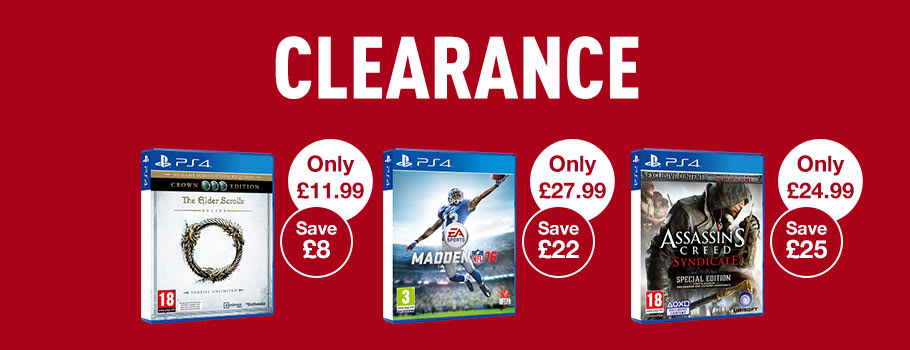 Clearance Deals for PS4 Games - Buy Now at GAME.co.uk!