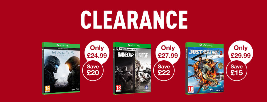 Clearance Deals for Xbox One Games - Buy Now at GAME.co.uk!
