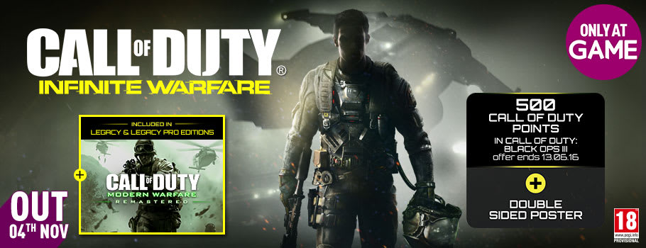 Call of Duty: Infinite Warfare, on Xbox One and Playstation 4 - Pre-order Now at GAME.co.uk!