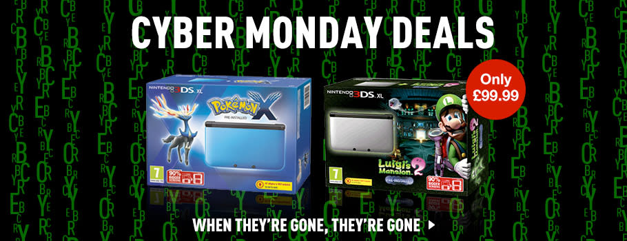 Cyber Monday Nintendo 3DS Deals - Buy now at GAME.co.uk