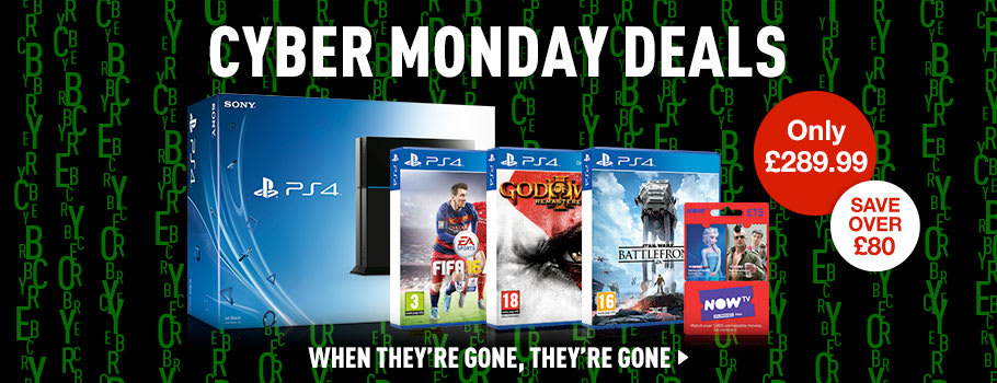 Cyber Monday PS4 Console Deals - Deals Now at GAME.co.uk!
