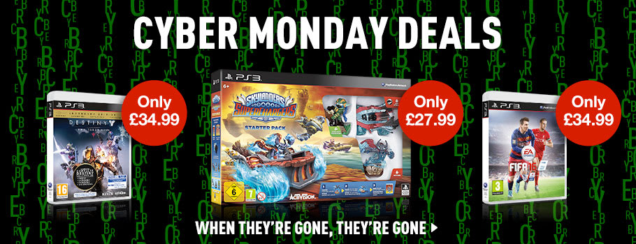 Cyber Monday Software Deals for PlayStation 3 - Buy Now at GAME.co.uk!