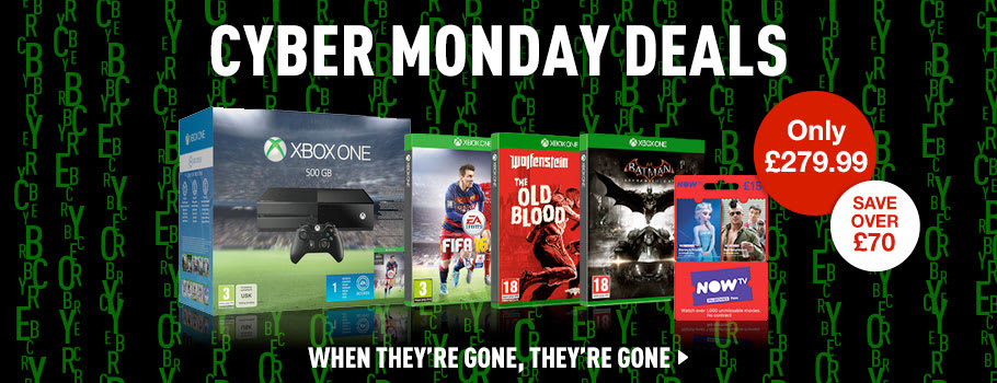 Cyber Monday Xbox One Console Deals - Buy Now at GAME.co.uk!