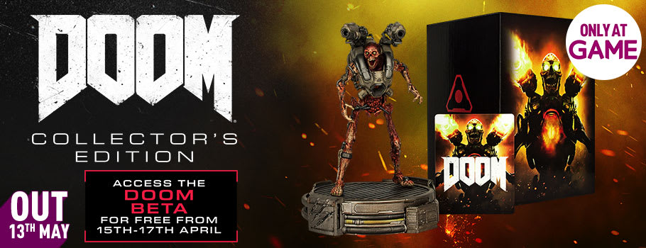 DOOM Collector's Edition for Xbox One, PS4 and PC - Preorder Now at GAME.co.uk!