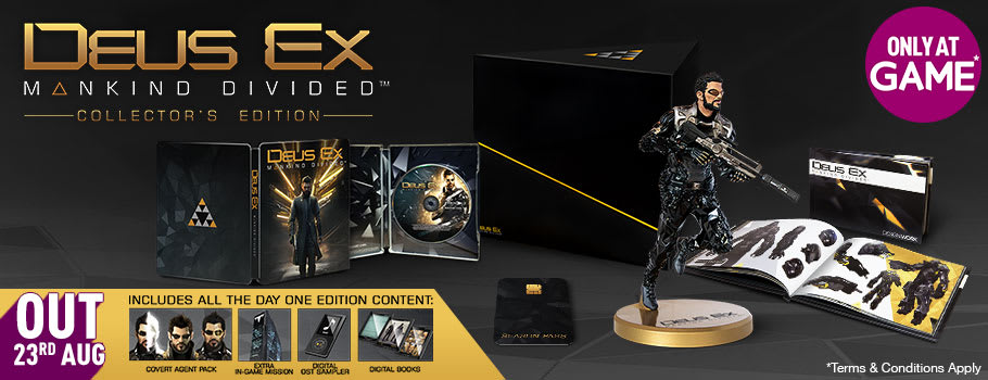 Deus Ex Mankind Divided Collector's Edition for PS4 - Pre-order Now at GAME.co.uk!