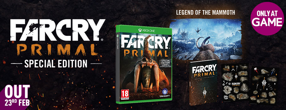 Far Cry Primal Special Edition Only at GAME for Xbox One - Pre-order Now at GAME.co.uk!