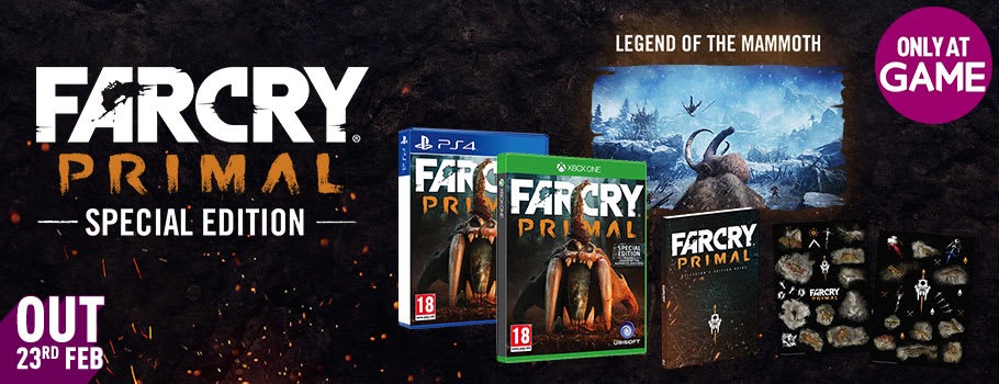 Far Cry Primal Special Edition on Xbox One and PS4 only at GAME - Preorder now at GAME.co.uk!
