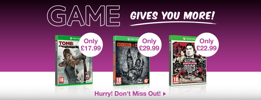GAME Gives You More for Xbox One - Buy Now at GAME.co.uk!