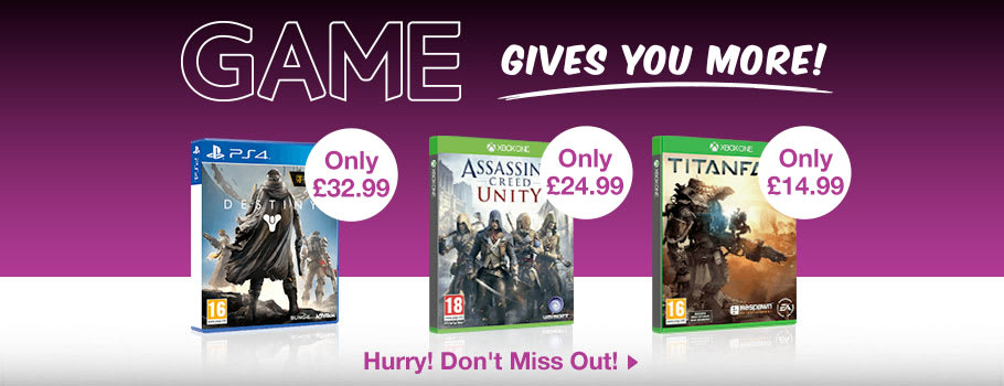 GAME Gives you More Deals - Buy Now at GAME.co.uk!