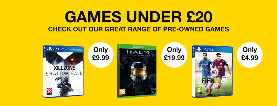 Pre-owned Games Under £20 for Xbox One and PS4 - Buy Now at GAME.co.uk