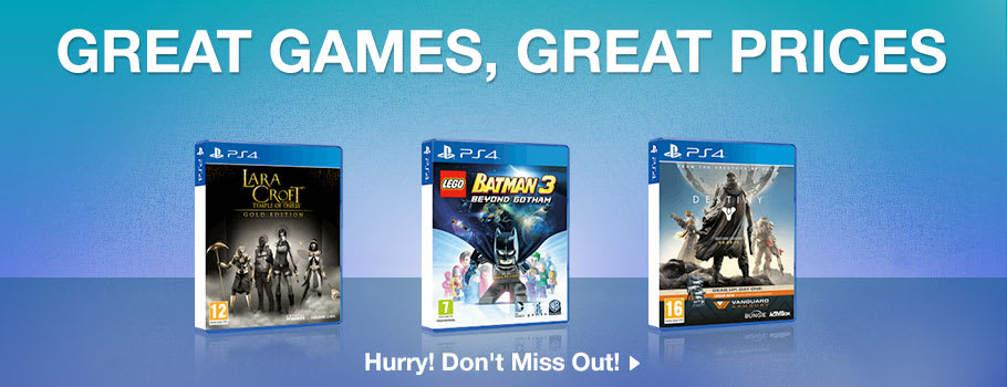 Great Games, Great Prices for PlayStation 4 - Buy Now at GAME.co.uk!