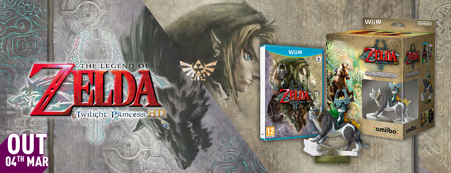 The Legend of Zelda Twilight Princess with Wolf Link amiibo for Nintendo Wii U - Pre-order Now at GAME.co.uk!