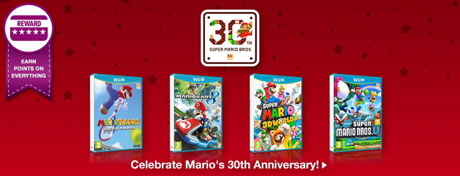 Super Mario 30th Anniversary - Back Cat for Nintendo Wii U - Out Now at GAME.co.uk!