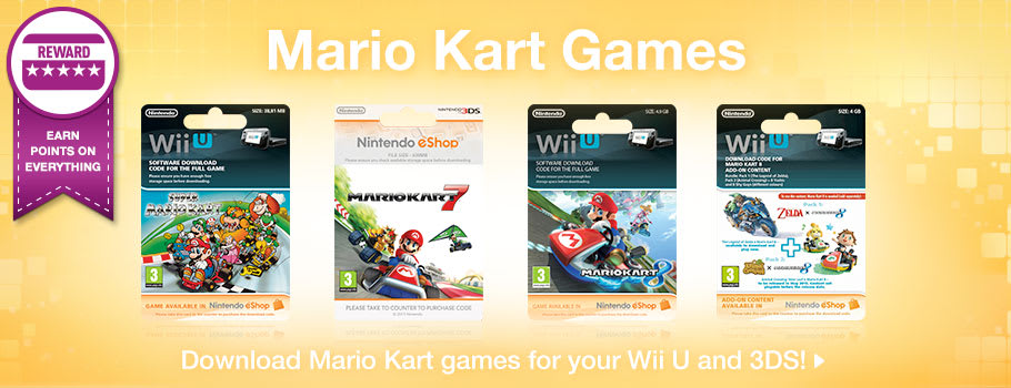 Mario Kart Games from Nintendo eShop -  Now at GAME.co.uk!
