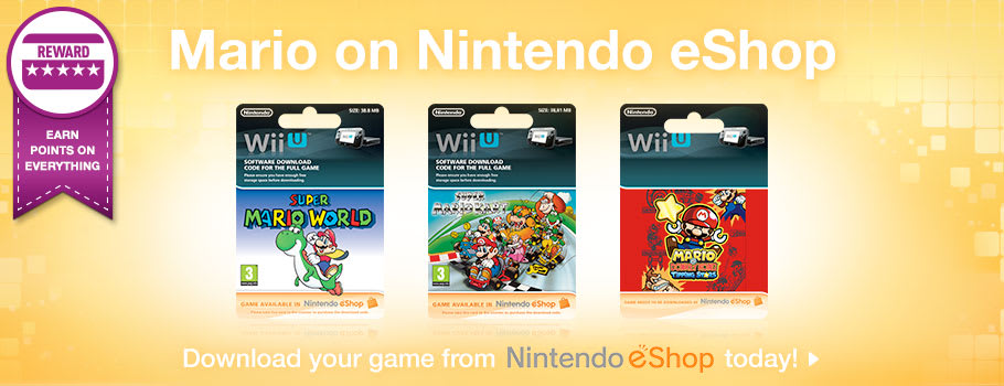 Mario games on eShop for Nintendo Wii U - Download Now at GAME.co.uk!