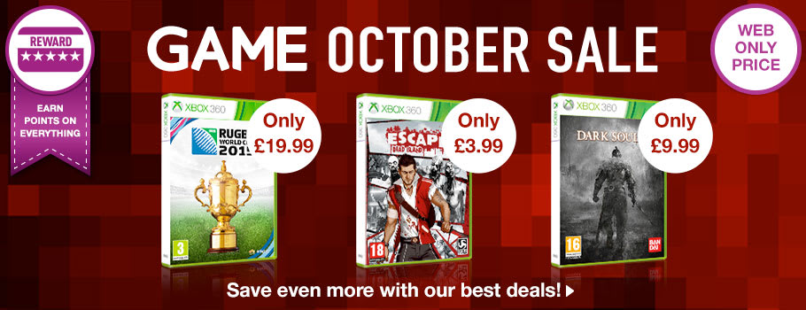 October Sale for Xbox 360 - Buy Now at GAME.co.uk!