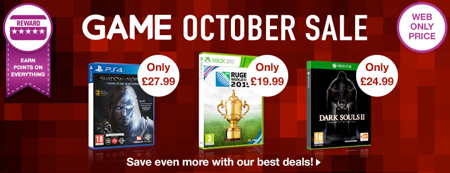 October Sale at GAME - Buy Now at GAME.co.uk!