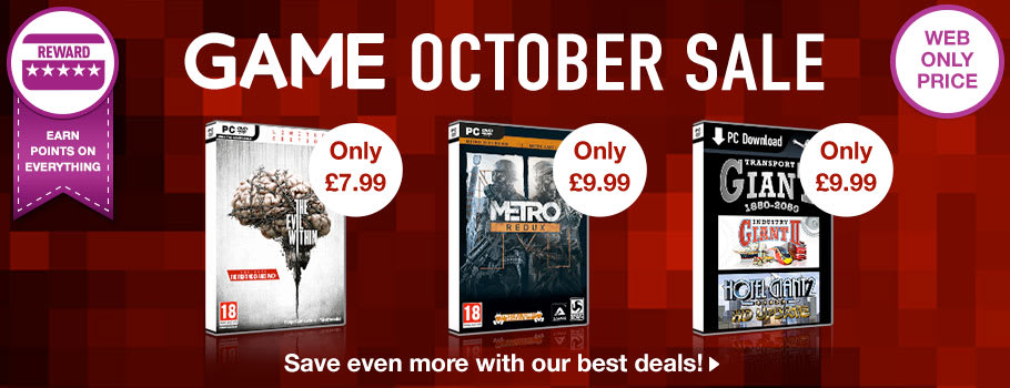 October Sale for PC - Buy Now at GAME.co.uk!