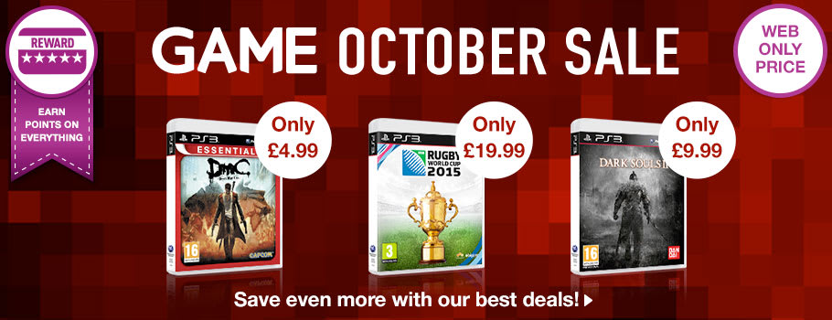 October Sale for PlayStation 3 - Buy Now at GAME.co.uk!