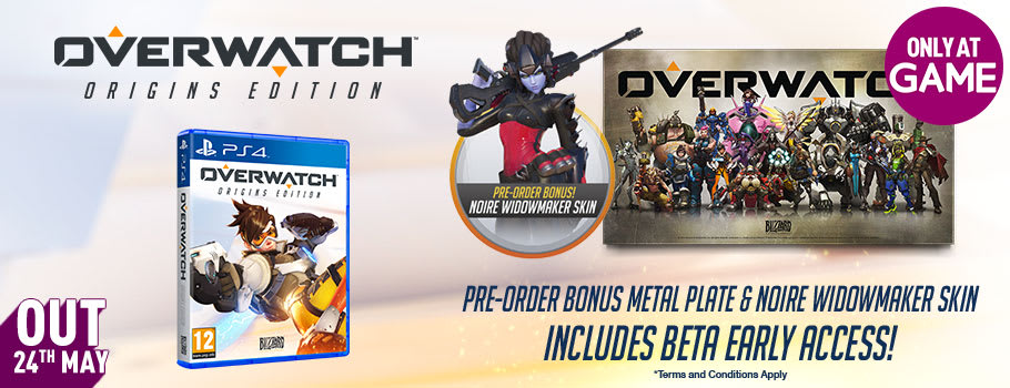 Overwatch for PS4 -Pre-order Now at GAME.co.uk!