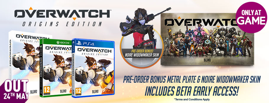 Overwatch Origins Edition with Only at GAME Beta Access for PS4, PC and Xbox One - Pre-order Now at GAME.co.uk!