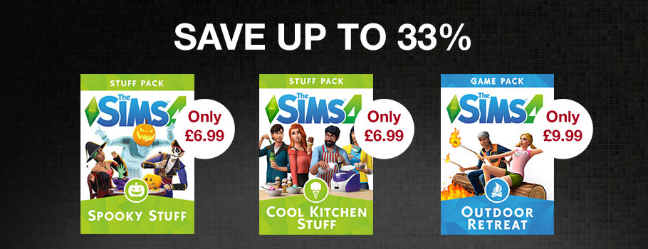 Save up to 33% on a selected range of The Sims 4 Stuff Packs for PC Download - Buy Now at GAME.co.uk!