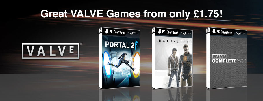 Valve Deals for PC Download - Download Now at GAME.co.uk!