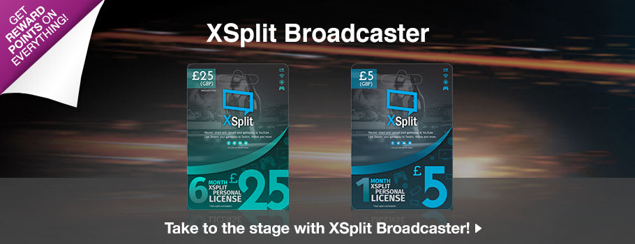 Just Added: XSplit Broadcaster Subscriptions for PC Download - Download Now at GAME.co.uk!