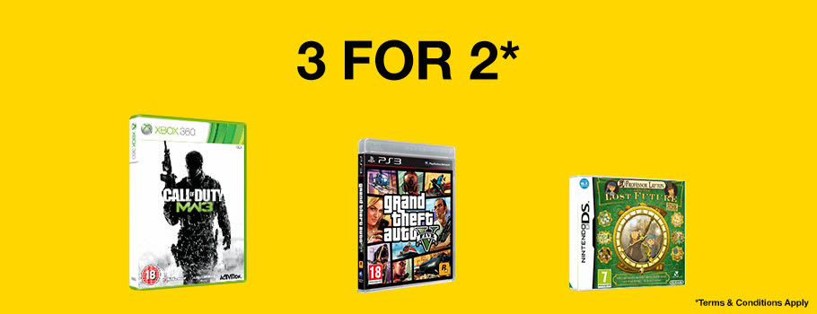 Pre-owned 3 for 2 - Buy Now at GAME.co.uk