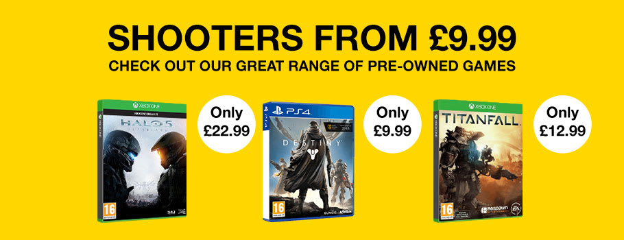 Preowned Shooters on Xbox One and PS4 from £9.99Games - Buy Now at GAME.co.uk!