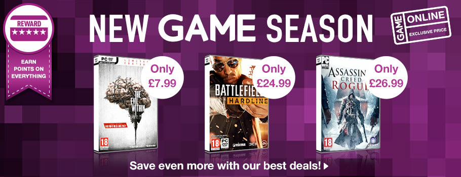 New Game Season Deals for PC - Buy Now at GAME.co.uk!