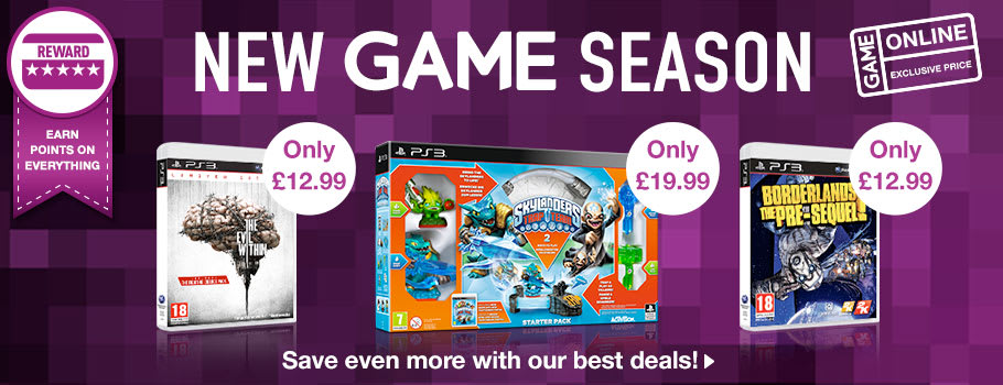 New Game Season Deals for PlayStation 3 - Buy Now at GAME.co.uk!