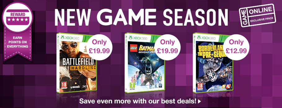 New Game Season Deals for Xbox 360 - Buy Now at GAME.co.uk!