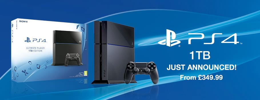 1TB PlayStation 4 Console - Preorder Now at GAME.co.uk!