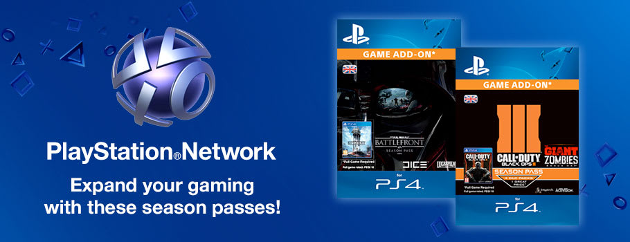 Season Passes for PlayStation Network - Download Now at GAME.co.uk!