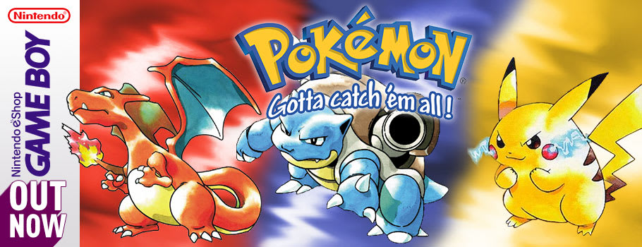 Pokemon Red, Blue and Yellow for 2DS, 3DS and 3DS XL from Nintendo eShop - Download Now at GAME.co.uk!