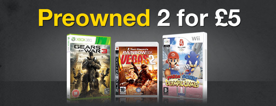 Preowned Games 2 for 5