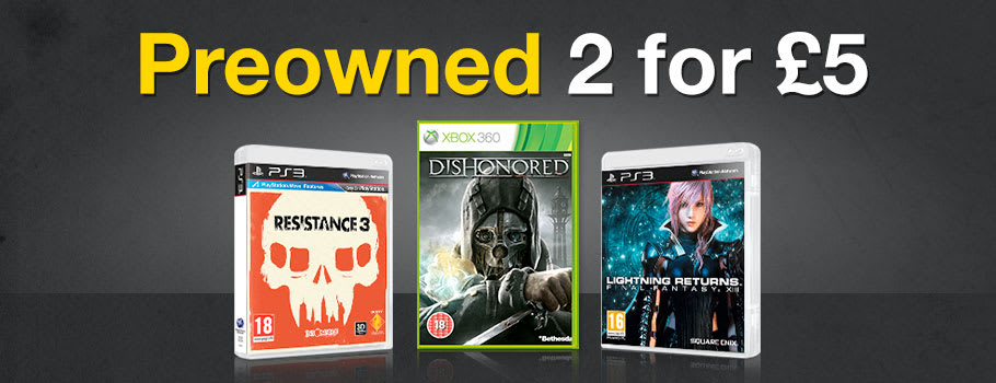 Preowned 2 for £5 - Buy Now at GAME.co.uk!