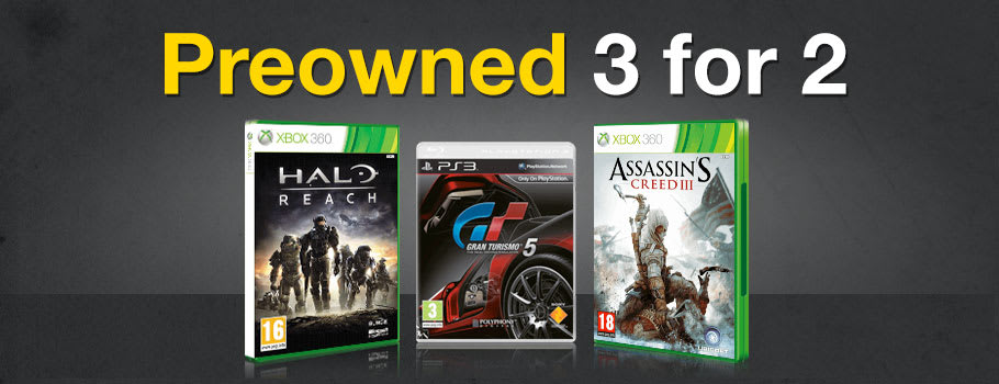 Preowned Games 3 for 2