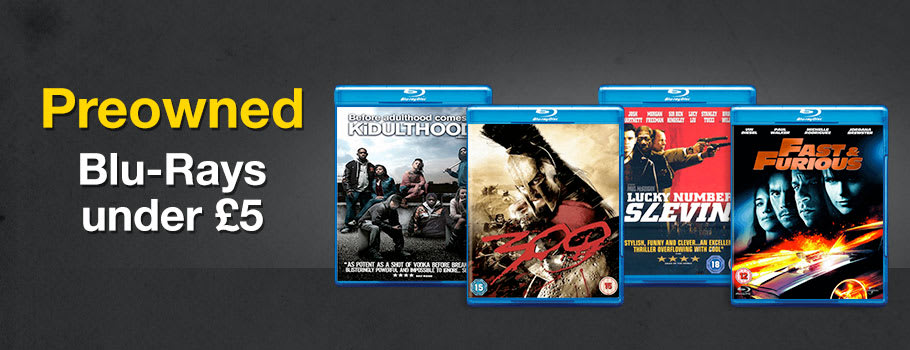 Preowned Blu-Rays under £5