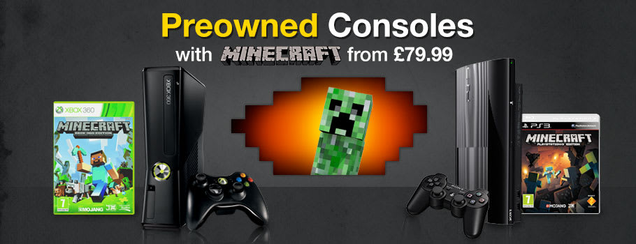 Preowned consoles with Minecraft from £79.99